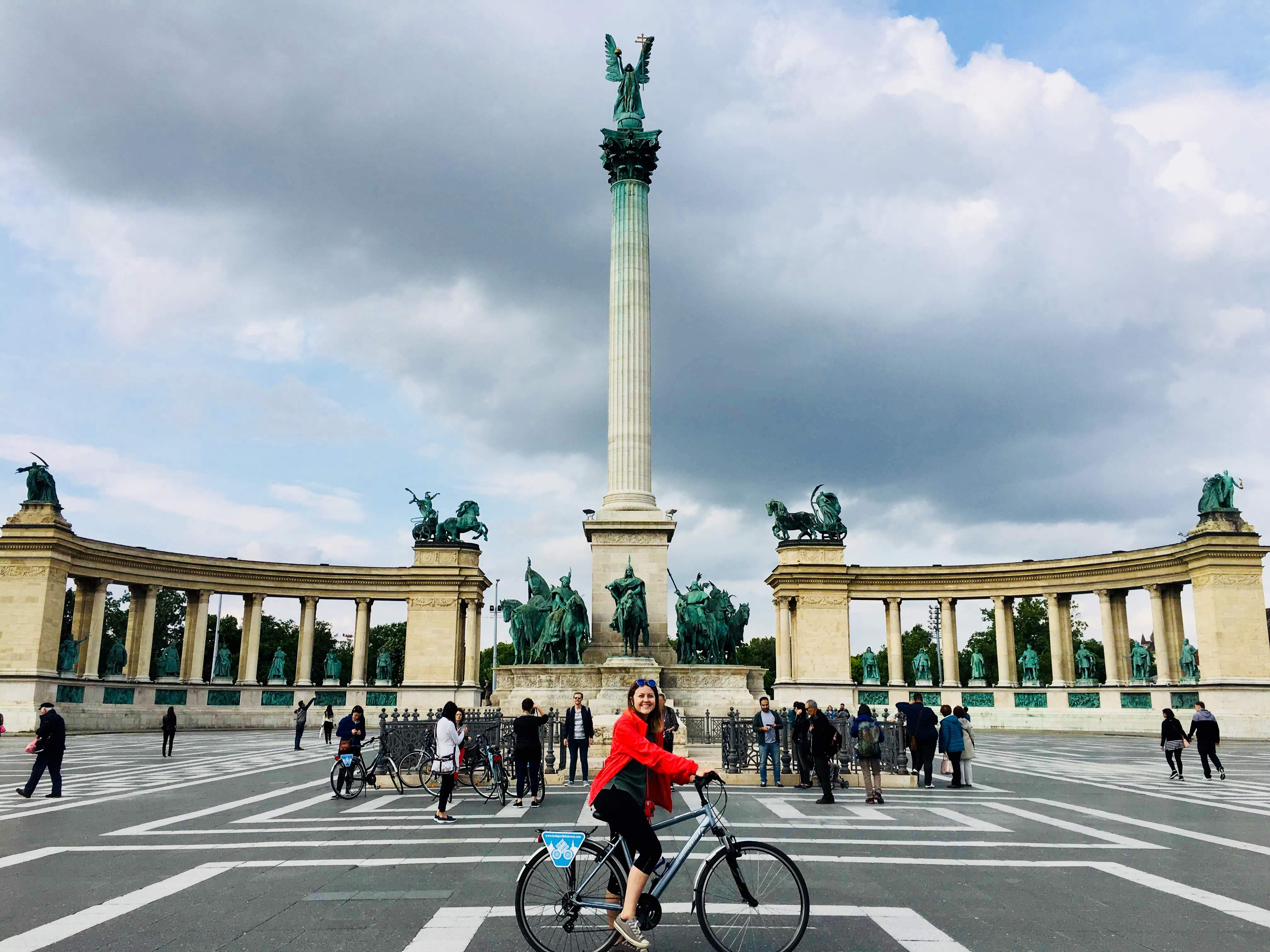 Alexi Doak software engineer intern traveling Budapest Hungary bike tour